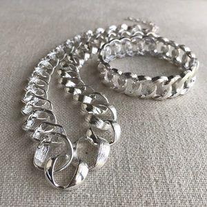 ⛓Matching Necklace & Stretch Bracelet⚙️